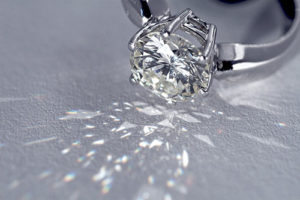 Image of Diamond Ring cleaned by Sparkle Again Diamond Cleaner